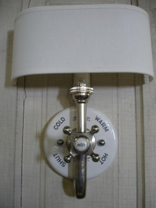 Mixer Valve Sconce by Island Girl Salvage